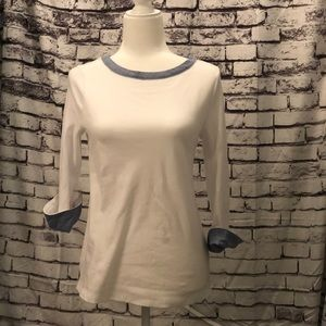 White and blue Nautica top size small